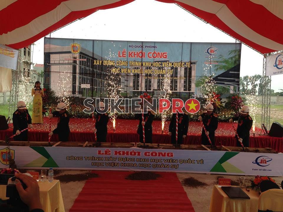 Sự kiện lễ khởi công công trình khu học viện quốc tế học viện khoa học quân sự