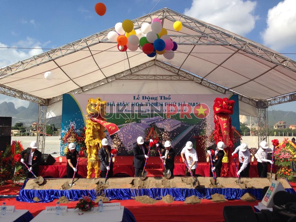 tổ chức sự kiện lễ khởi công, động thổ tại Hà Nam